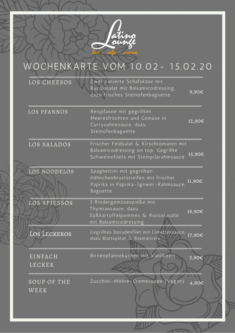 Wochenkarte 10.02-15.02